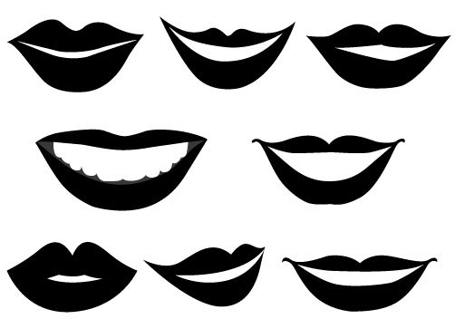 smiling lips vector graphics vector graphics clip art and graphics rh pinterest com lips clipart black and white