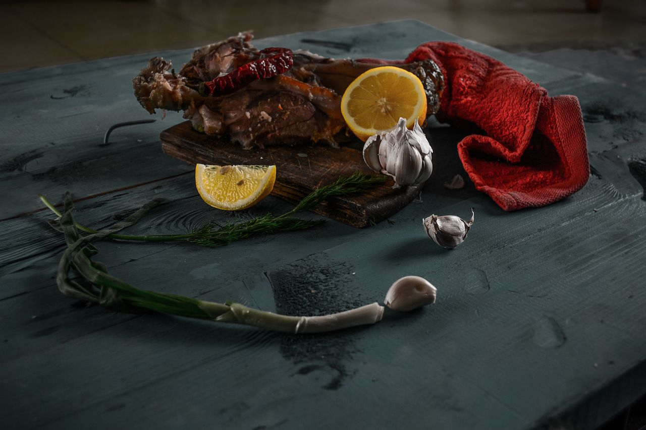 First experience of food photography and still life. The process of preparing to this event was pretty fun, including buying special dye, sawing and dyeing big and heavy boards in 2 colors on my balcony…but it was only the beginning