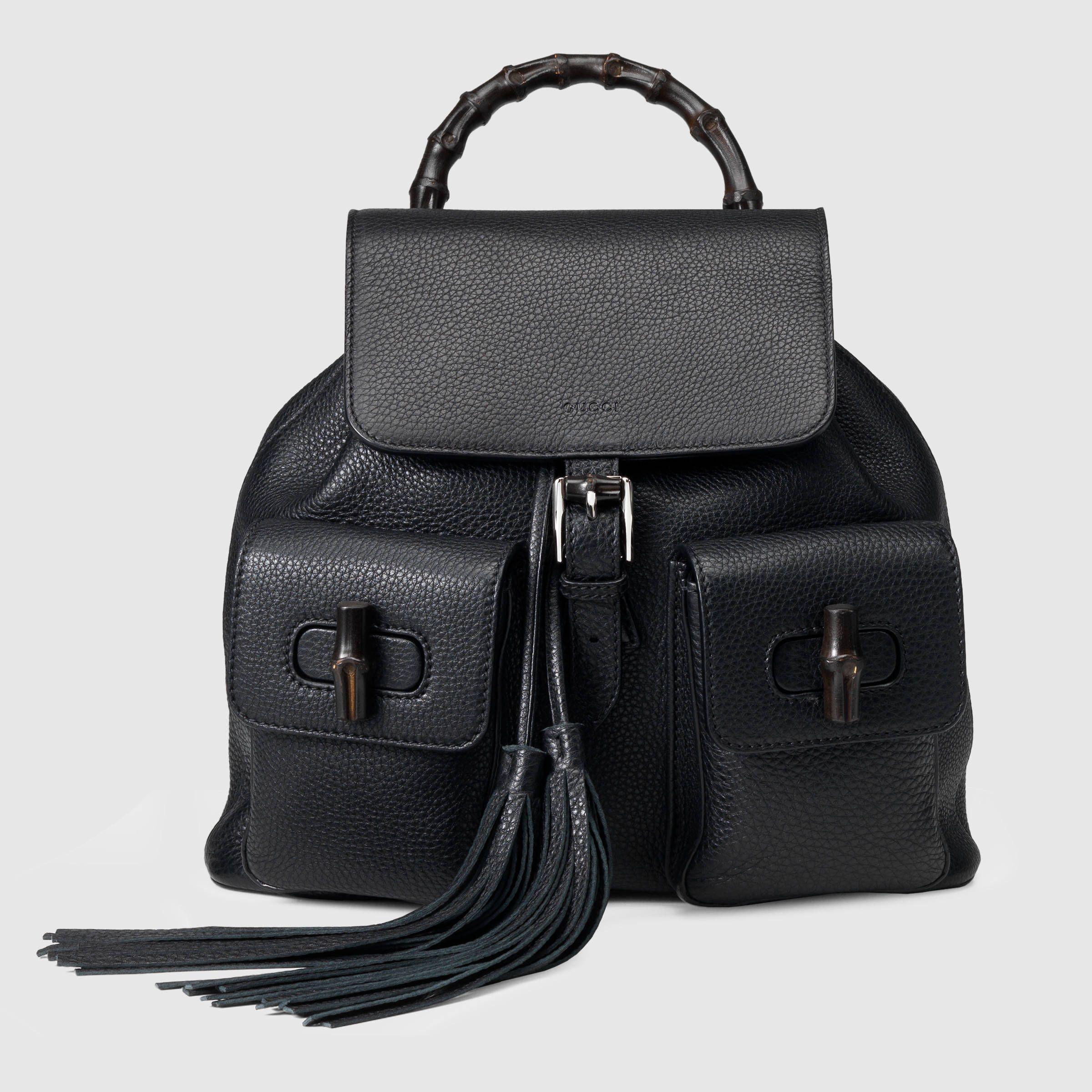 70b0f1ac1e0 Gucci Women - Bamboo leather backpack - 370833A7M0N1000