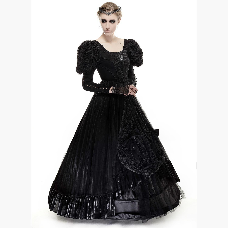 Schwarzes Gothic Brautkleid in viktorianischem Look ...