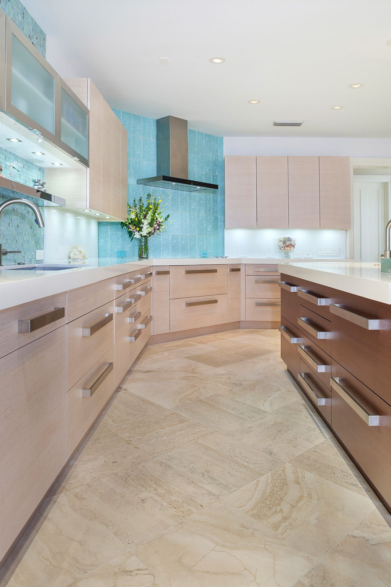 Our contemporary kitchens feature metal or painted cabinets, light ...