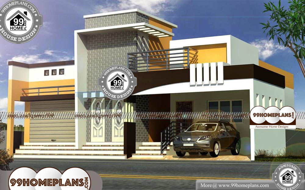 Indian House Front Elevation Models With 3d Exterior Plans Double Storey House Plans With Balcony H Double Storey House Plans Double Storey House House Front