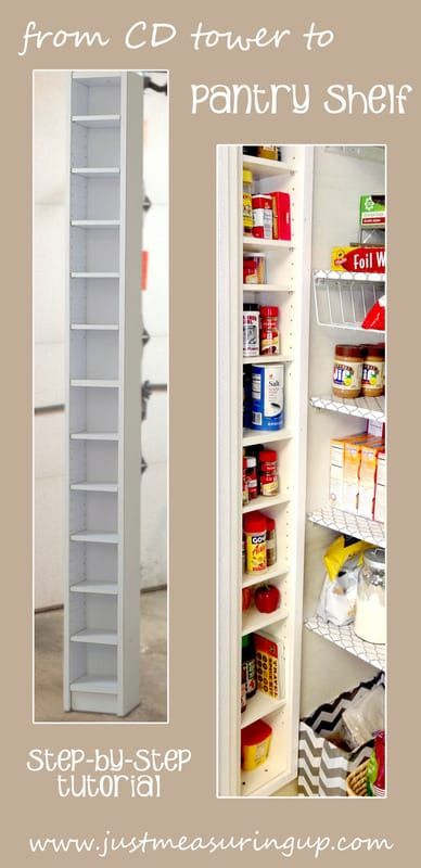An Old CD Tower transforms this pantry