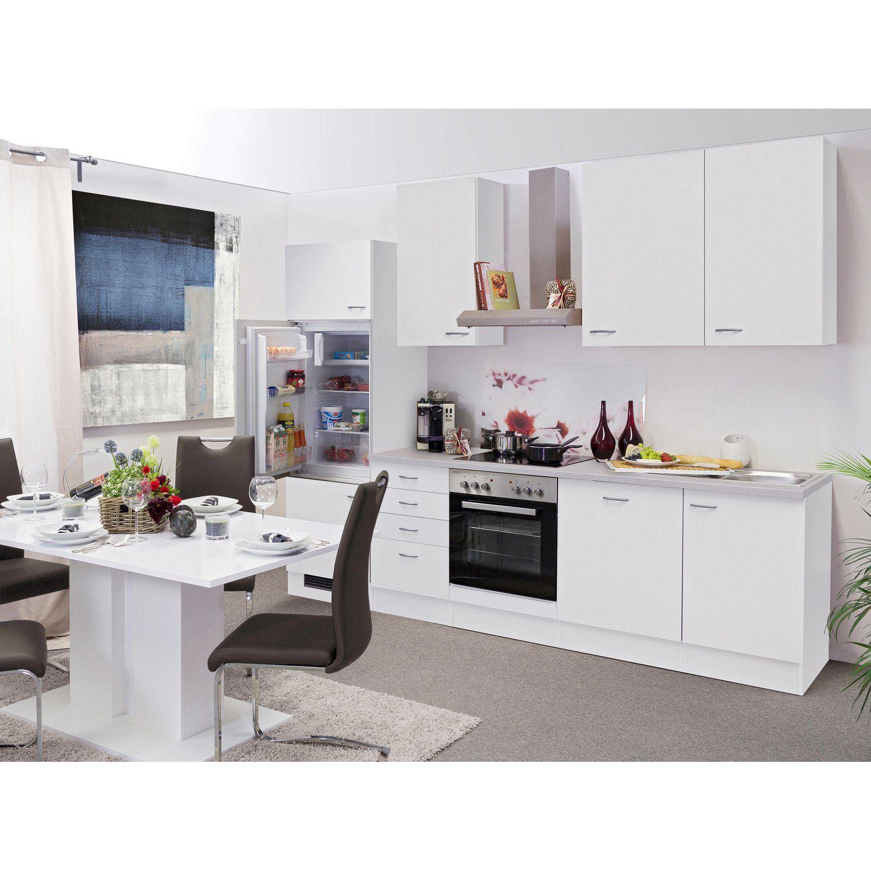 Flex-Well Classic Küchenzeile Wito 280 cm Weiß | Küchenzeilen ...