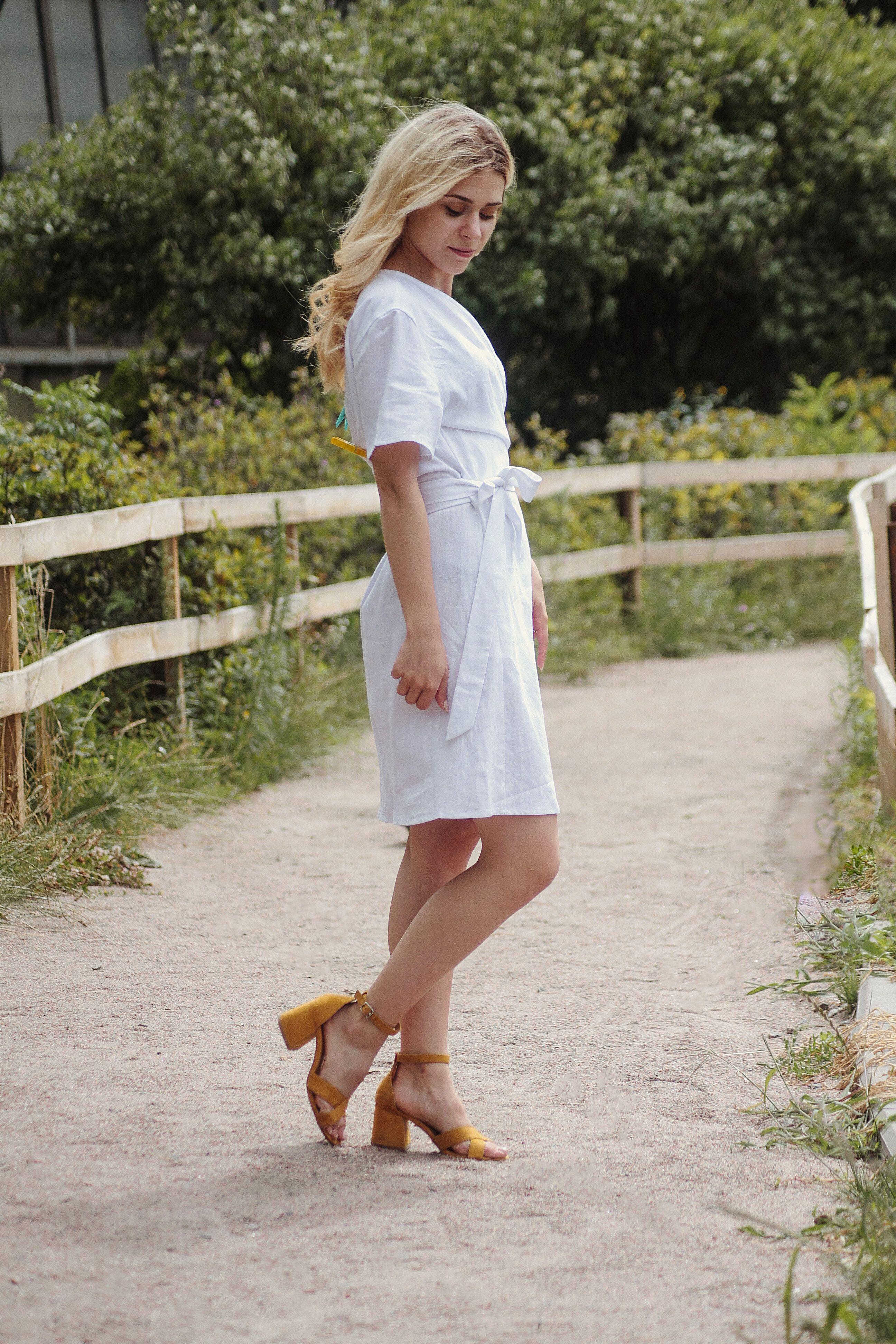 Linen Wedding Dress White Linen Dress Linen Dresses Wrap Etsy Linen Wedding Dress White Linen Dresses Linen Dress