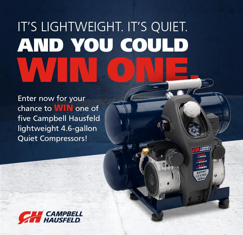 Enter to win a Campbell Hausfeld Lightweight 4.6Gallon