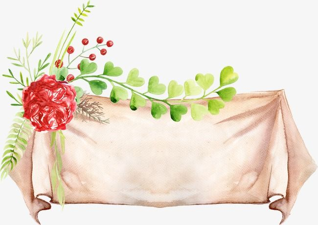 Flower And Leaves Banner Leaves Patten Png Images Vector Banner Clip Art Clip Art Banner