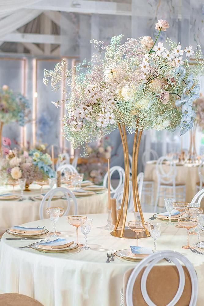 42 Outstanding Wedding Table Decorations   Wedding Forward is part of Wedding decorations - We have prepared for you a great list of the best wedding table decorations  Each bride and groom will find here something to their liking