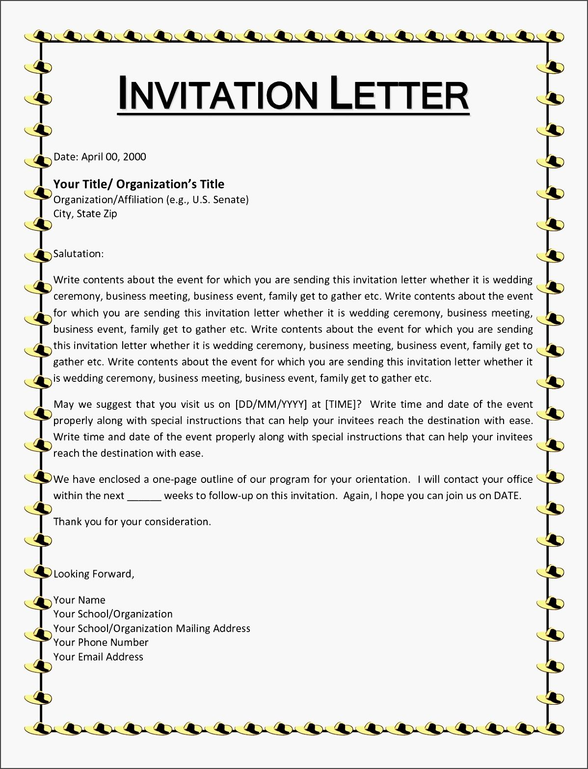 Invitation letter informal yeniscale invitation letter informal stopboris Images