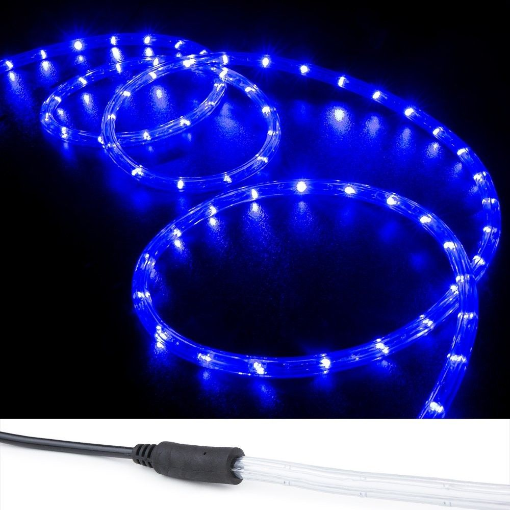 10 Ft Blue Pre Assembled Led Rope Lights 2 Wire Christmas Holiday Decoration Indoor Outdoor Lighting Ul Certified C111ylcvv3p Led Rope Lights Rope Lights Led Rope