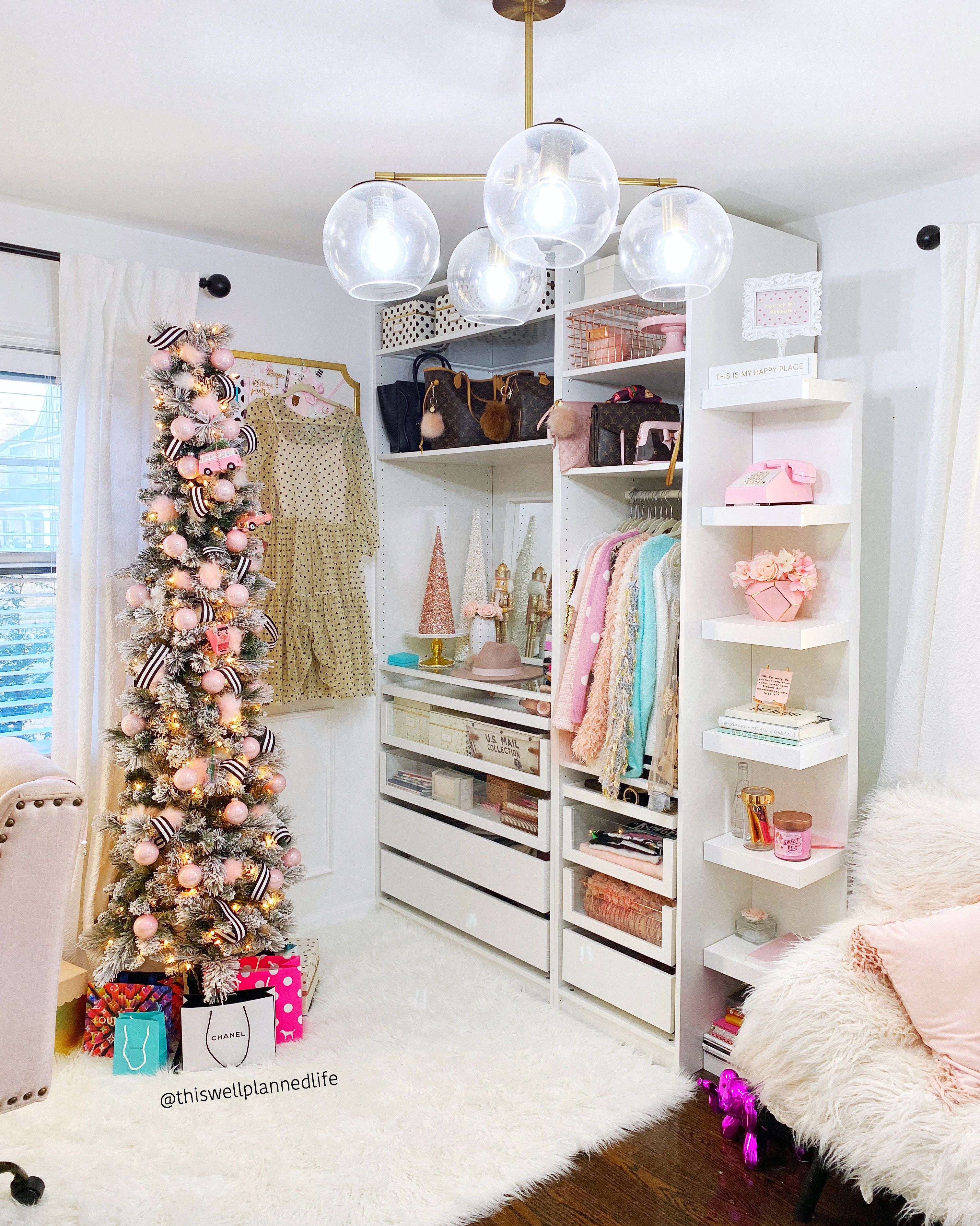 My Mom Cave Cloffice Transformed For Christmas Moms Cave Home Office Space Small Space Office