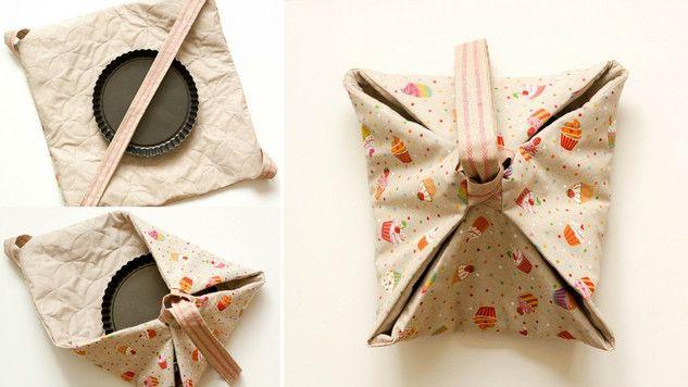 Tuto : coudre un sac à tarte pour des plats chauds à emporter