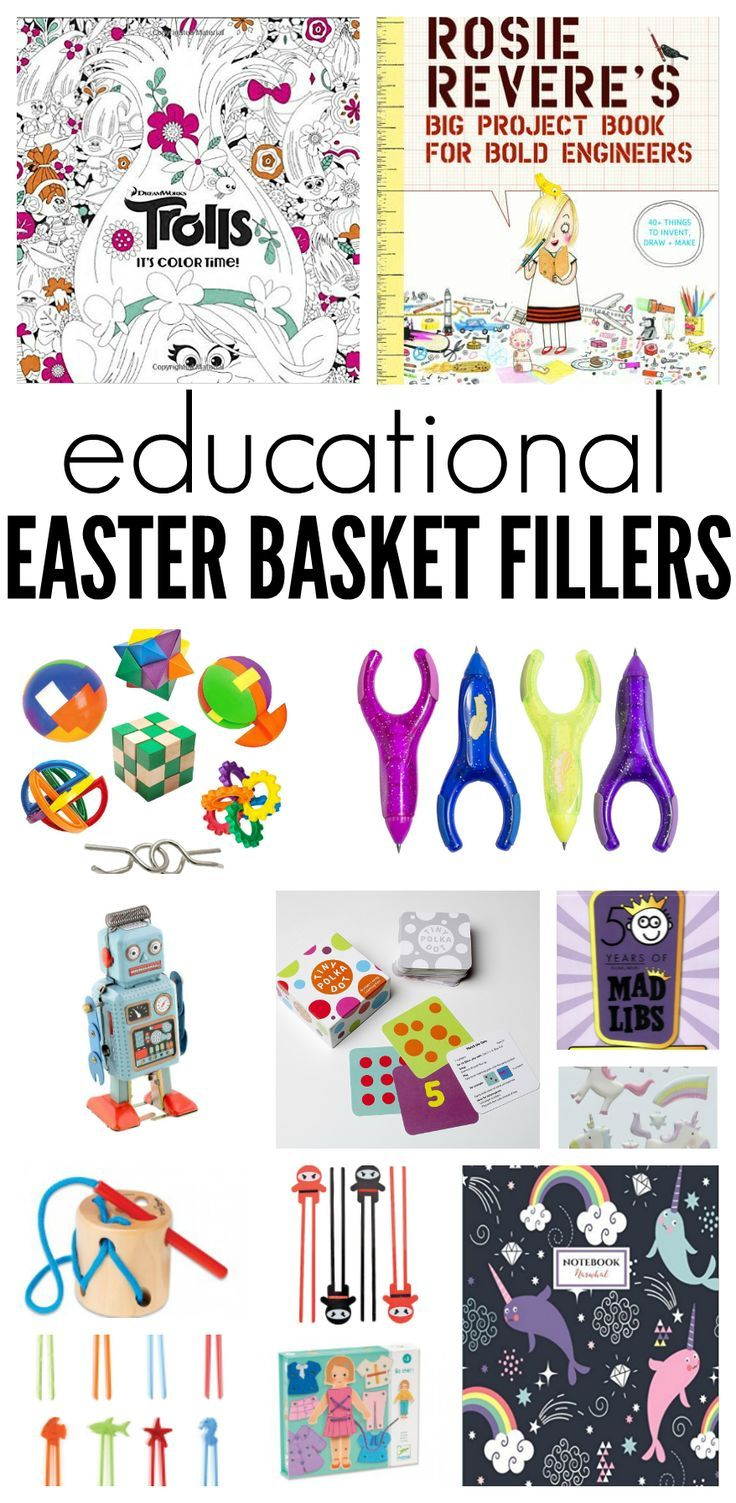 Educational easter basket fillers easter baskets and easter looking for something besides candy to put in your childrens easter baskets here is a negle Choice Image