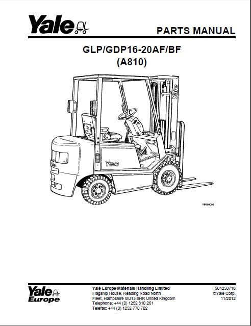 New Yale Spare Parts Pdf 2017 For Usa Version Affiliate Parts Catalog Forklift Yale