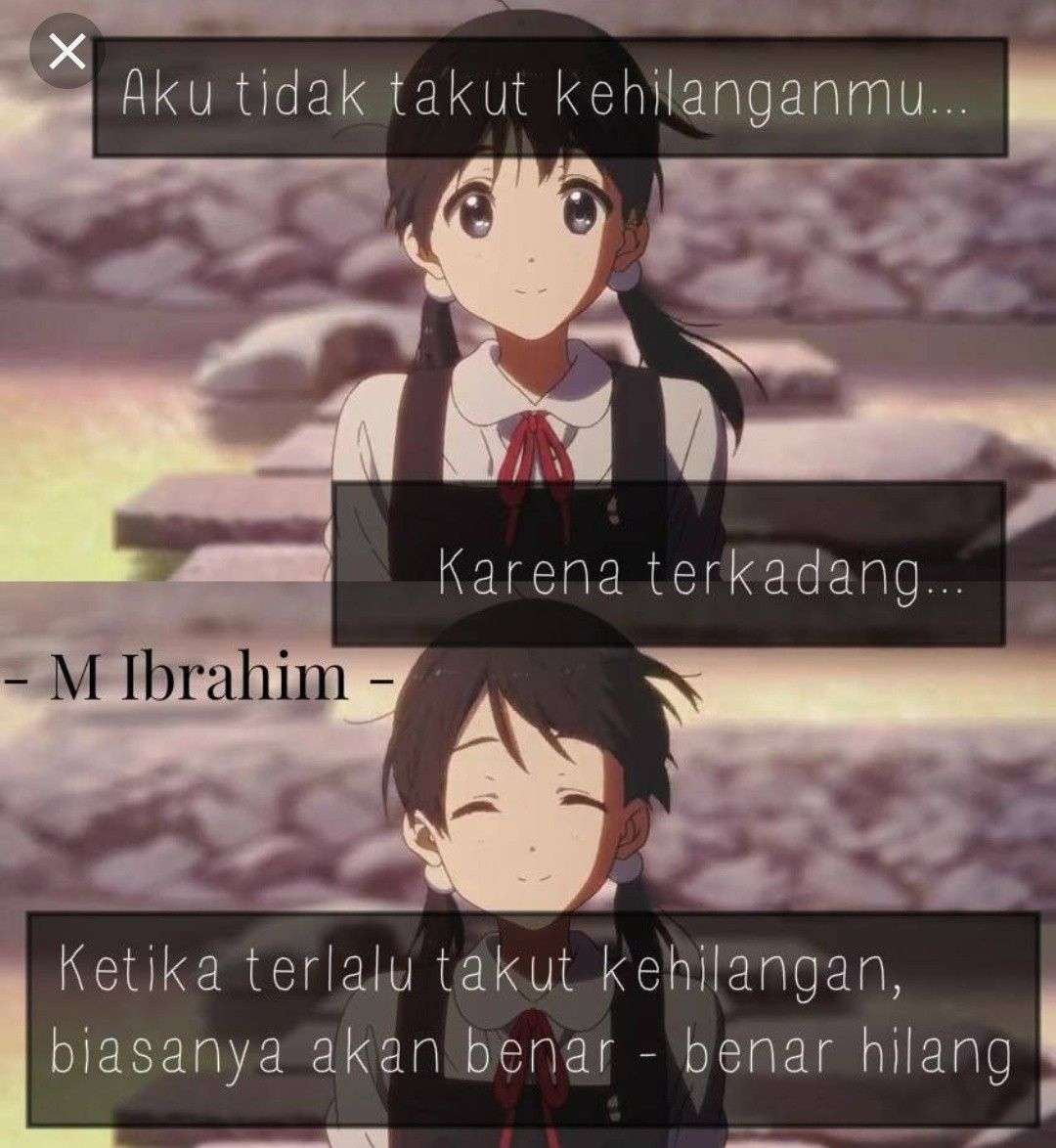 Pin by Wendell on kata kata animers Quotes galau, Anime