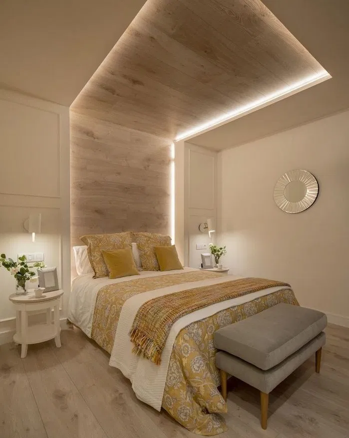 False Ceiling Designs For Small Rooms: 144+ Lighting Ceiling Bedroom Ideas For Comfortable Sleep