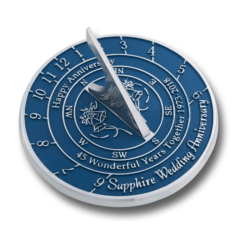 40th ruby wedding anniversary sundial gift anniversary
