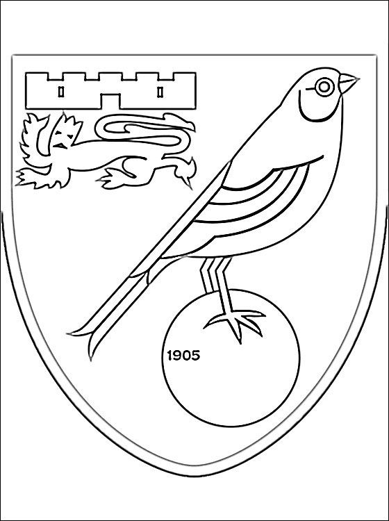 emblem of norwich city f c coloring page coloring pages on english football coloring pages