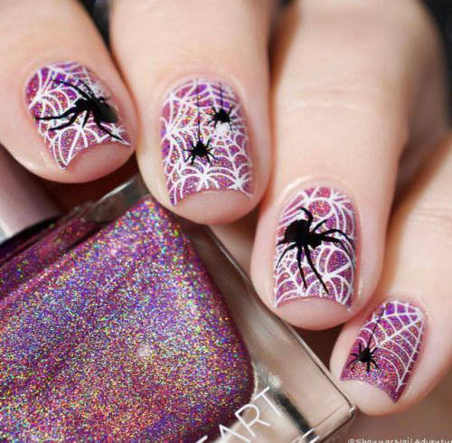 Pin by cute marina on Halloween Spider Nail Art Designs ...