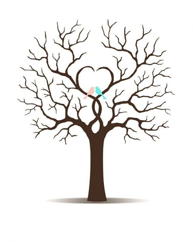 fingerabdruck baum vorlage diy-bastelidee-kinder-erwachsene   tree ...