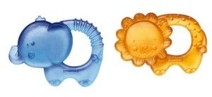 Luv U Zoo Water Teether Duo These are great for the beginning stages of teething.  http://awsomegadgetsandtoysforgirlsandboys.com/fisher-price-toys-baby-birth-6-months/ Luv U Zoo Water Teether Duo