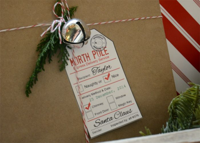 Printable santa gift tags holidays pinterest santa gifts sharing some adorable and free santa gift tag printables for those christmas gifts straight from santa and the north pole negle Choice Image