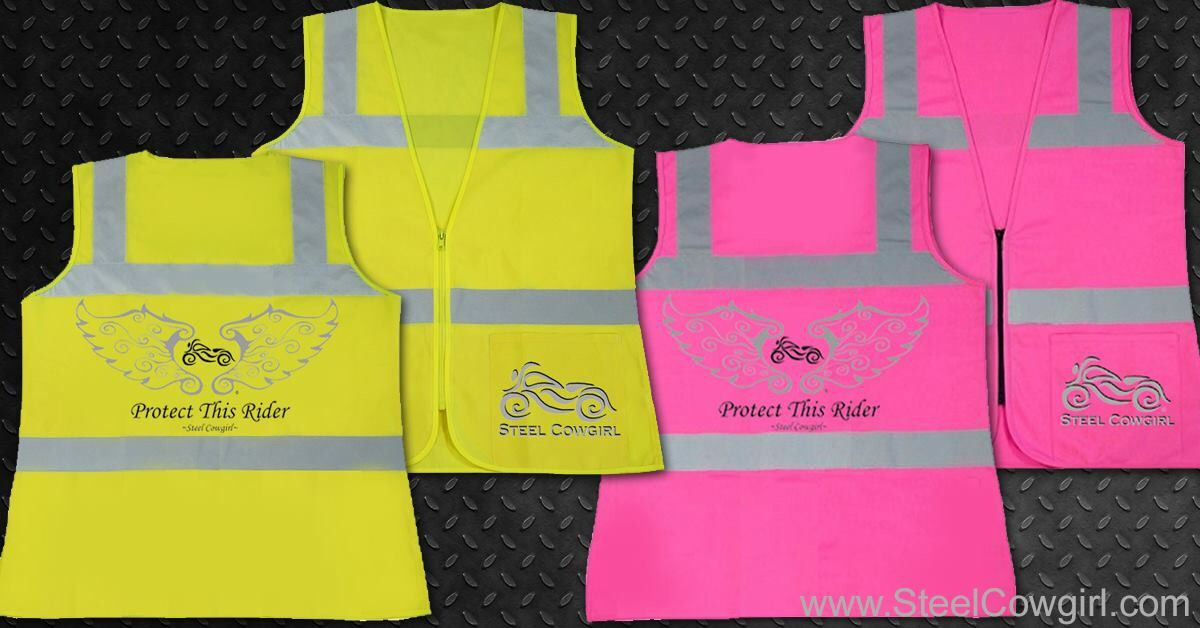 """""""Protect This Rider"""" safety vests S-5X. Even if you don't usually wear one, they're great to keep in your saddlebag just in case ur end up in a really dark area. #motorcycle"""