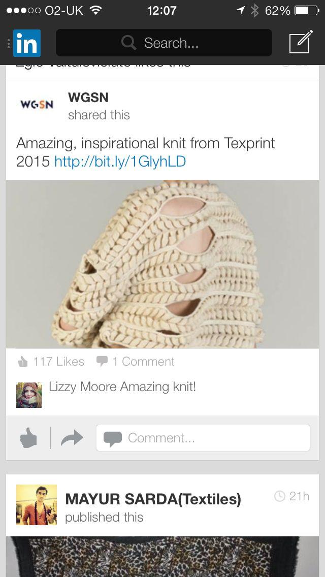Horizontal knits