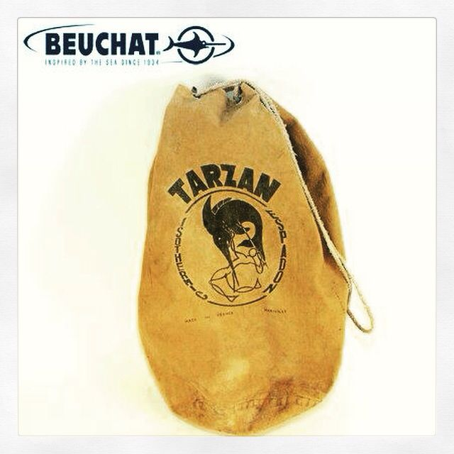 Old bag from when Beuchat products was named Tarzan #diving #vintage