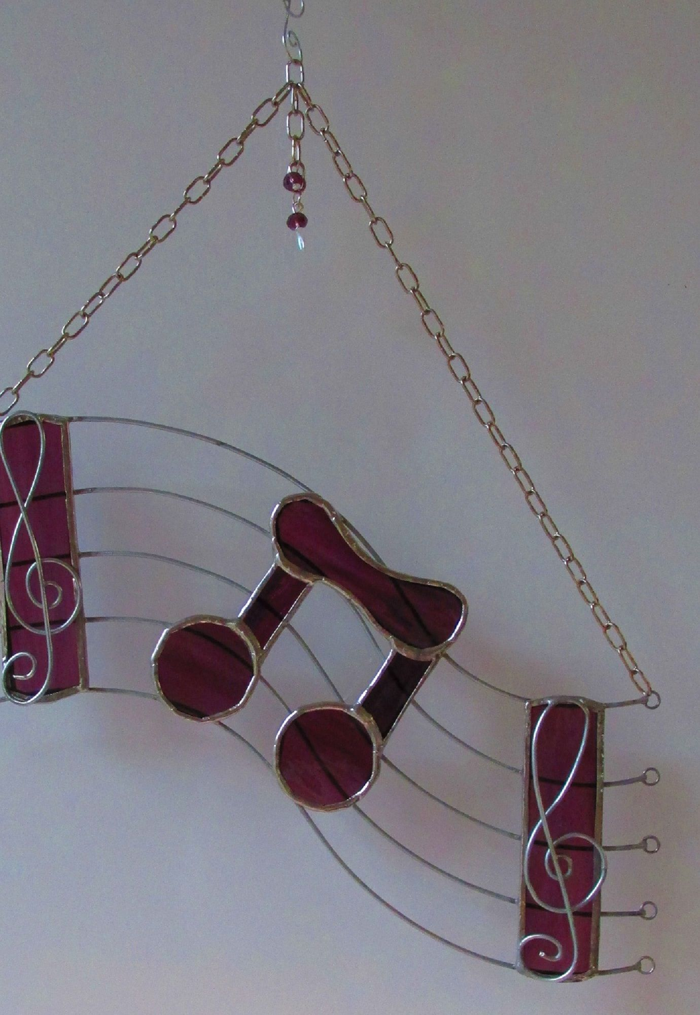 Stained Glass Musical Note by MadeInGlass (Jan Wickes) https://www ...