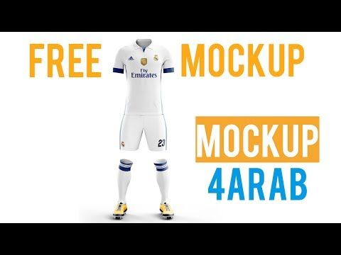 Tutorial football kit MOCKUP free - YouTube Free Youtube 23cae93ef