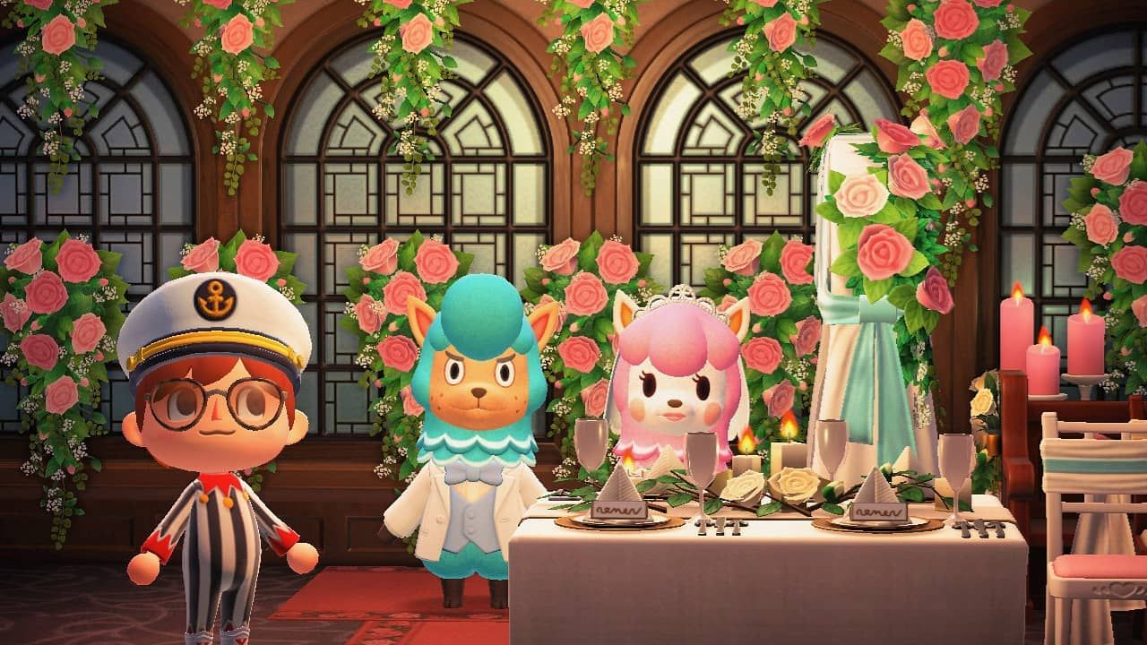 Wedding Event In Animal Crossing New Horizons In 2020 Animal Crossing Animals Secret Song
