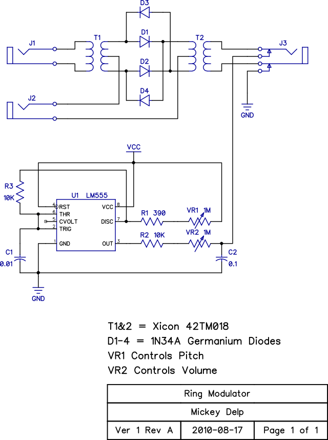 Ring Modulator Schematic Modulators Triangle Wave Signal Processor