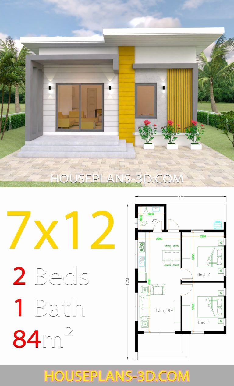 2 Bedroom Bungalow House Plans Awesome Small House Design Plans 7x12 With 2 Bedrooms Full Plans In In 2020 Small House Design Plans Small House Layout House Plans