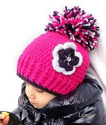 Детские шапки - цветастая кепка с jagavým kamienkom - 4611087_