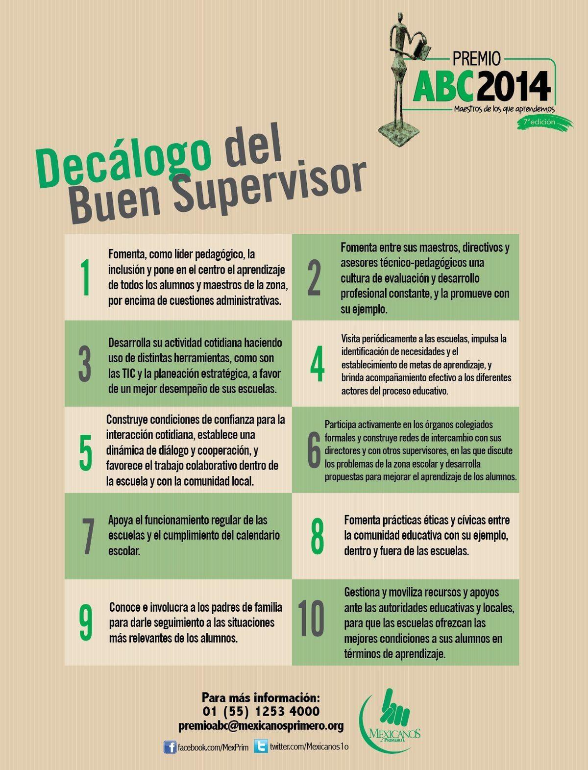 Decálogo del buen #Supervisor | Educación | Pinterest | Riesgos ...