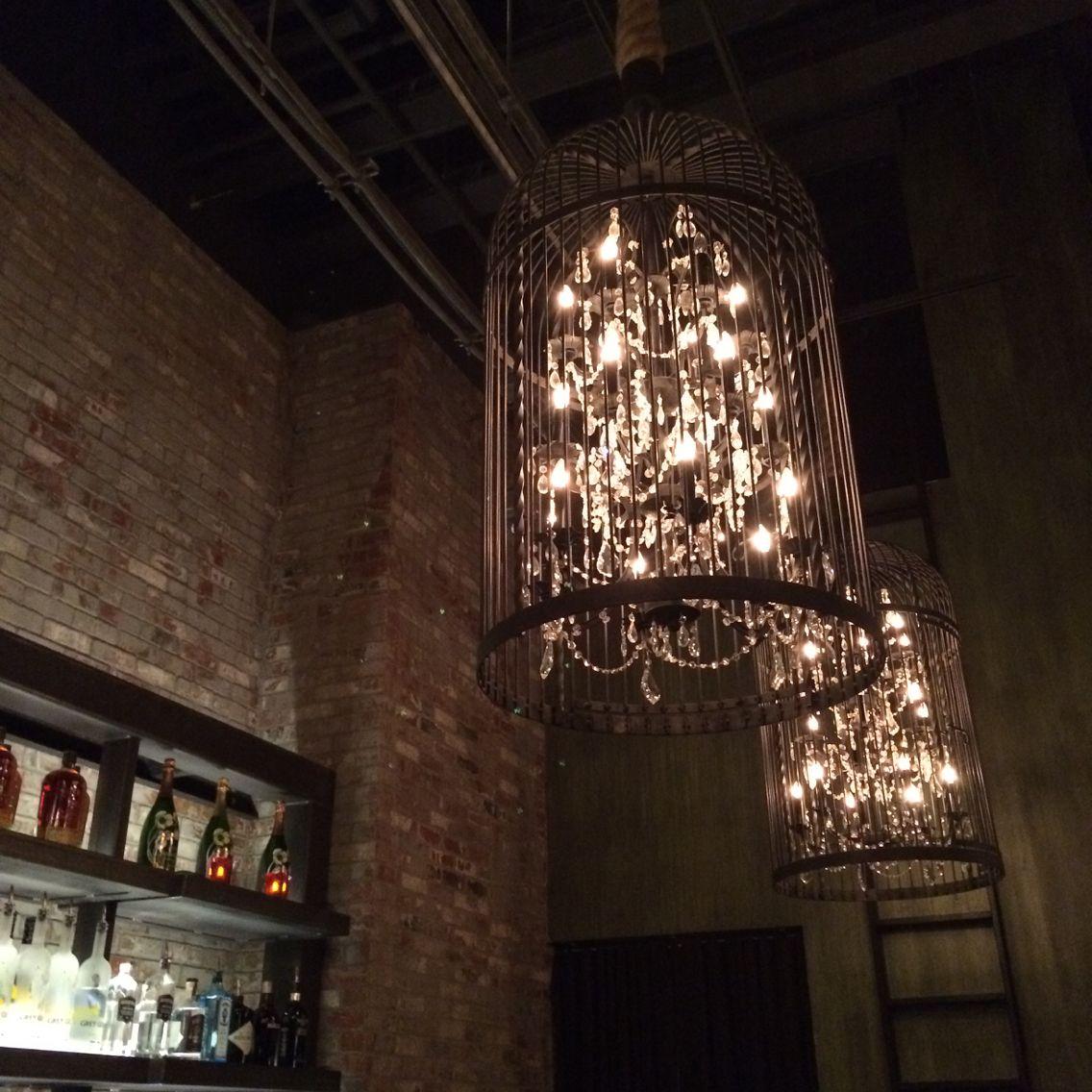 Gorgeous Statement Pendants Over The Sayers Club Bar At Sls Las Vegas