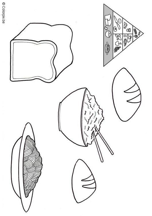 Coloring Page Grain Products Coloring Picture Grain Products