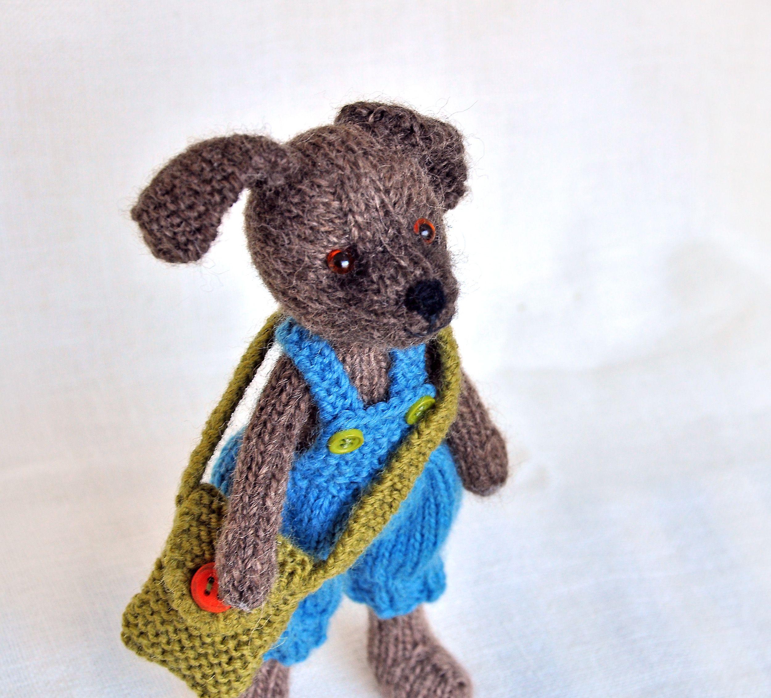 Knitting pattern. Dog Charlie. #dog #toy #pattern #knittingpattern ...