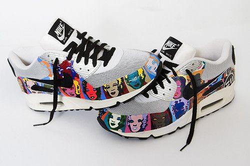 Custom Kicks Nike Air Max 90 Andy WarholMarilyn Monroe