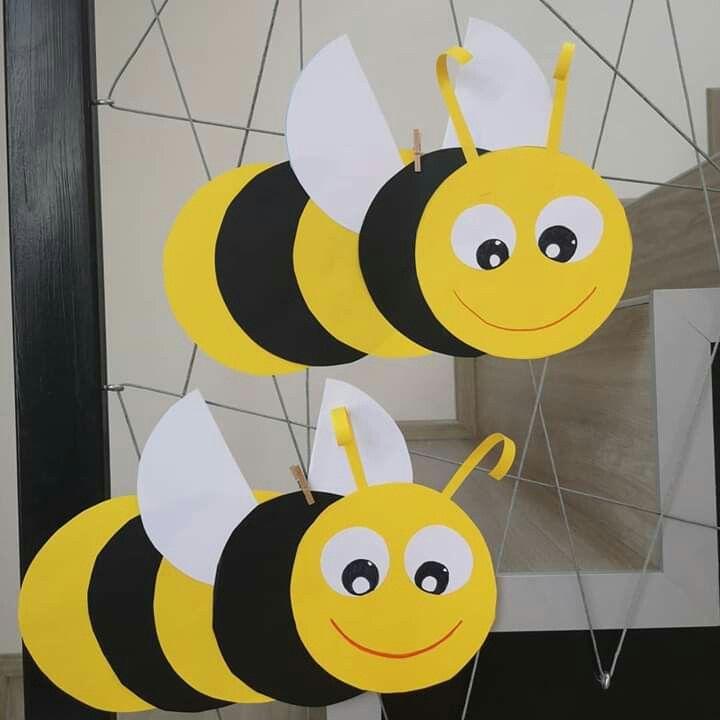 Basteln Biene Aus Papier Basteln Fensterbild