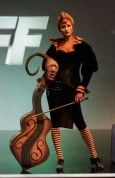 I fell in love with this one. I love the whimsical feel of the cello. This is from the TV show FaceOff. Hats off to all the makeup artists...incredible talent.