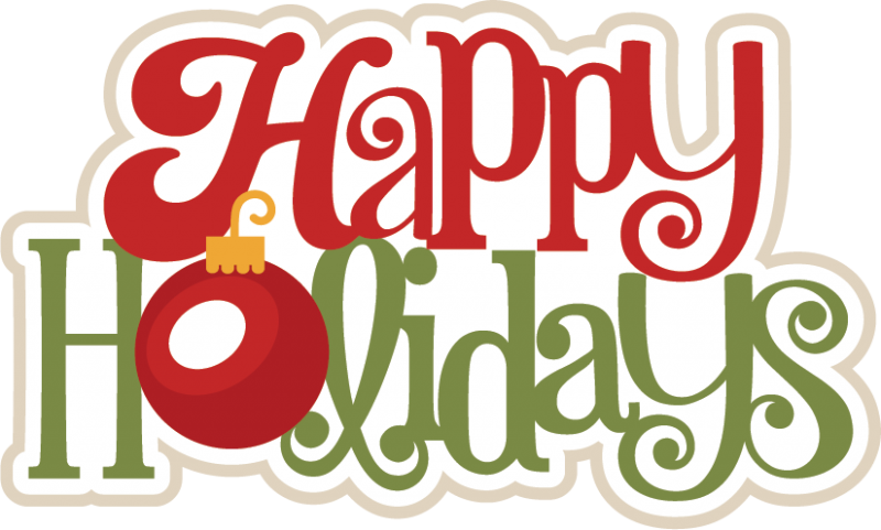 happy holidays svg scrapbook title christmas svg scrapbook title rh pinterest com happy holidays clipart png happy holiday clipart black and white