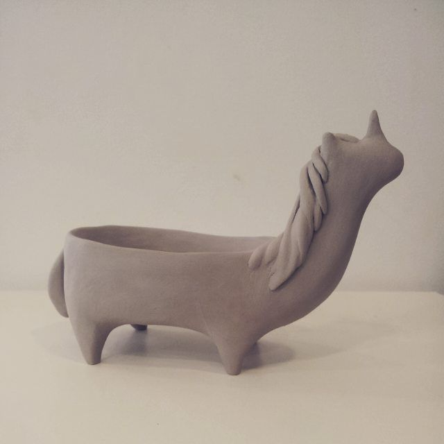 Unicorne pot #pot #ceramic #modelage #argile #poterie #unicorne #licorne #handmade #mep
