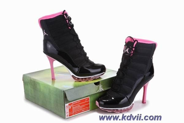 Black Pink Air Cushion Jordan High Heels Women Outlet