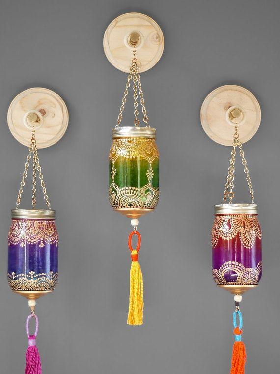 Photo of Boho-Dekor Wand hängen Laterne weckglas Dekor Einweihungsparty Geschenk Votiv Kerzen Halter besten Freund Geschenk marokkanische Lampe Wandvase