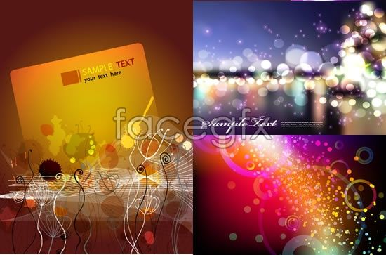 Gorgeous Halo background dynamic lines vector