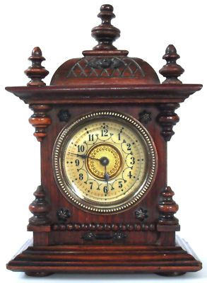 Very Rare Quaint Junghans Antique Miniature Bracket Clock