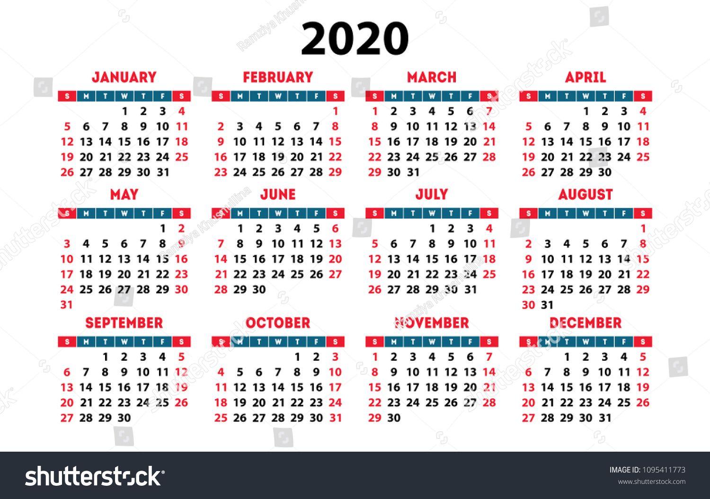 Calendar 2020 Vector Pocket Basic Grid Simple Design Template Vector Pocket Calendar Basi Calendar 2020 Calendar 2019 Template Blank Monthly Calendar Template