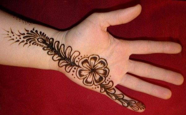 Simple Arabic Mehndi Art Ideas For Front Hand Fashion Mehndi